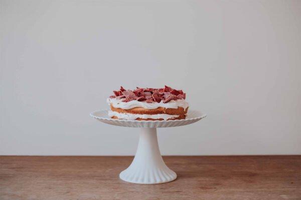stapeltaart-ruby choco, knettersuiker & framboos